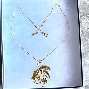 18k Gold Plated Filigree Necklace With Gift Box🎁